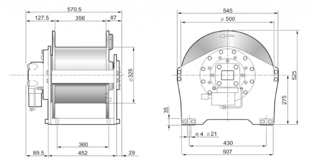 s45 winch drawing