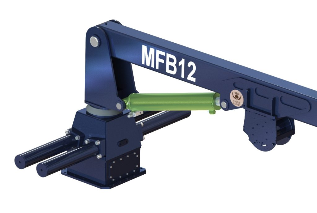 mfb12 landing crane rack and pinion base