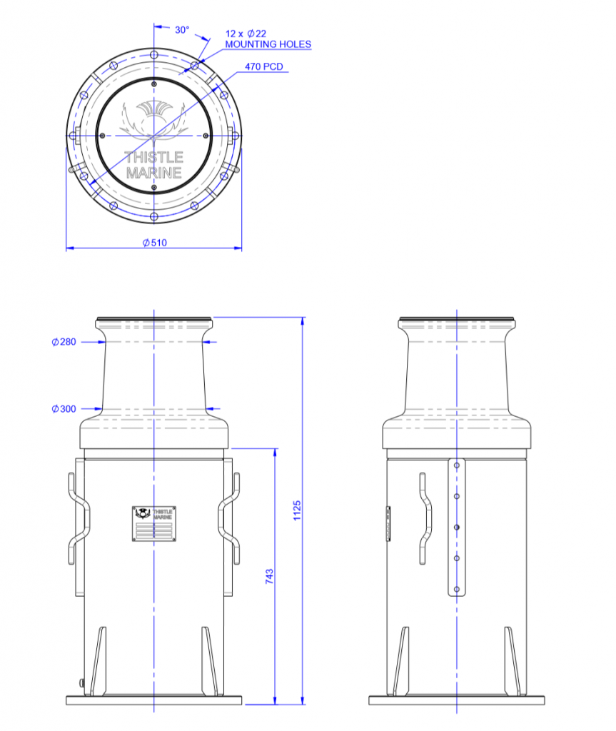 drawing of 5 tonne capstan