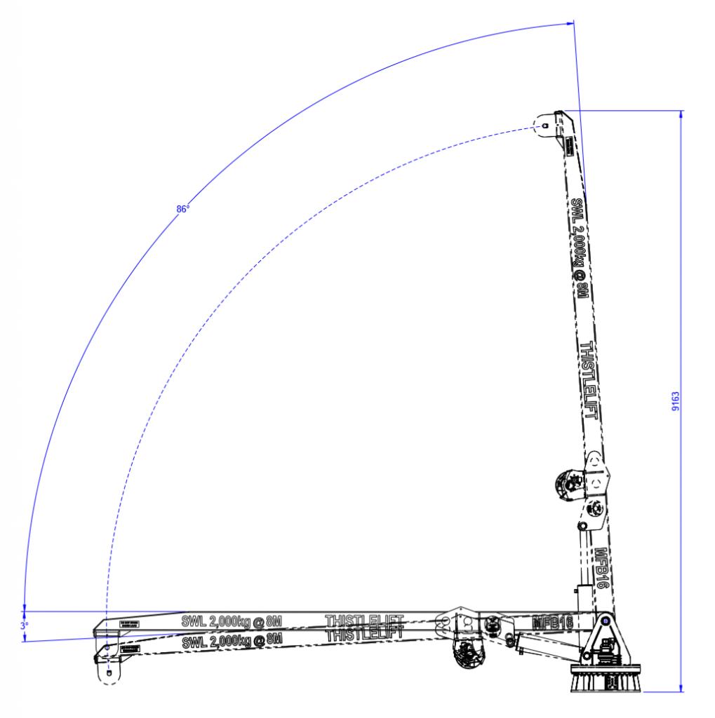 MFB16 landing crane